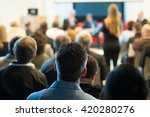 participants at the conference | Shutterstock . vector #420280276