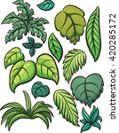 tropical leaves. vector clip... | Shutterstock .eps vector #420285172