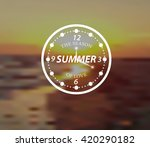 summer badge. sunset. vector... | Shutterstock .eps vector #420290182