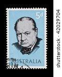 australia  sir winston... | Shutterstock . vector #42029704