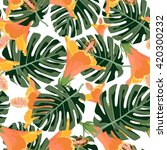 tropical pattern.colorful... | Shutterstock .eps vector #420300232