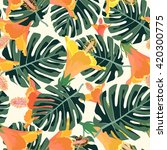 tropical pattern.colorful... | Shutterstock .eps vector #420300775