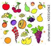 collection of cartoon doodle... | Shutterstock .eps vector #420314362