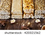 tasty sweets  kozinaki   on the ... | Shutterstock . vector #420321562