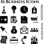 16 businessicon set. minimal... | Shutterstock .eps vector #420332986