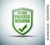 usda process verified shield...   Shutterstock . vector #420334042
