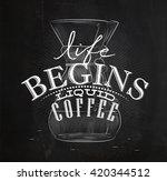 poster lettering life begins... | Shutterstock . vector #420344512