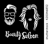 beauty saloon logo  vector... | Shutterstock .eps vector #420346852