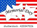 memorial day | Shutterstock . vector #420347026