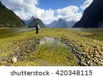 a man amazed by surrounding...   Shutterstock . vector #420348115
