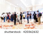 abstract blur people in press... | Shutterstock . vector #420362632