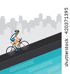cycling competition   race...   Shutterstock .eps vector #420371395