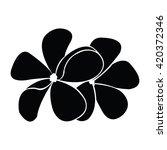 frangipani silhouettes for...   Shutterstock .eps vector #420372346