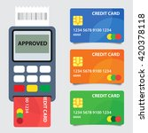credit card terminal. concept... | Shutterstock .eps vector #420378118