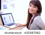 portrait of attractive female... | Shutterstock . vector #420387082