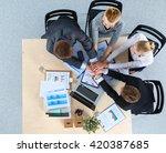 business team with hands... | Shutterstock . vector #420387685