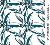 seamless floral pattern. vector ... | Shutterstock .eps vector #420388372