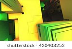 3d illustration of abstract... | Shutterstock . vector #420403252