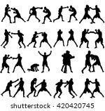 group of different poses of... | Shutterstock .eps vector #420420745