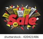 super sale with abstract... | Shutterstock .eps vector #420421486