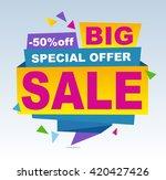 sale banner vector. 50 off.... | Shutterstock .eps vector #420427426