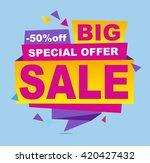 sale banner vector. 50 off.... | Shutterstock .eps vector #420427432