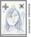 the major arcana tarot card | Shutterstock . vector #420434236
