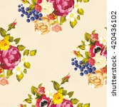seamless floral pattern with... | Shutterstock .eps vector #420436102