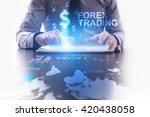 forex trading concept.... | Shutterstock . vector #420438058