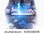 forex trading concept.... | Shutterstock . vector #420438058