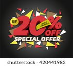 sale 20  off with abstract... | Shutterstock .eps vector #420441982