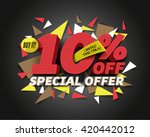 sale 10  off with abstract... | Shutterstock .eps vector #420442012
