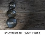 Small photo of Low light of Work-Life Balance concept.