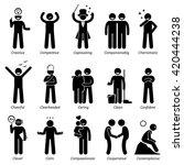 positive personalities... | Shutterstock .eps vector #420444238