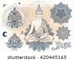 yoga  meditation vector...   Shutterstock .eps vector #420445165