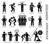 positive personalities... | Shutterstock . vector #420447055