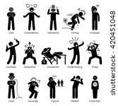 negative personalities... | Shutterstock .eps vector #420451048