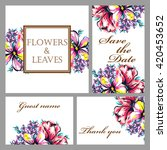 romantic invitation. wedding ... | Shutterstock .eps vector #420453652