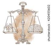 vector illustration antique... | Shutterstock .eps vector #420455602