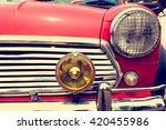 headlight lamp of vintage car   ... | Shutterstock . vector #420455986