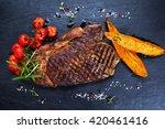 Grilled Beef Sirloin Steak On...