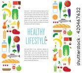 banner foods  a healthy... | Shutterstock . vector #420467632
