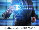 businessman selecting digital... | Shutterstock . vector #420471652