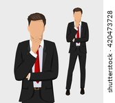 businessman standing  thinking. ... | Shutterstock .eps vector #420473728