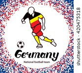 germany. national football team ... | Shutterstock .eps vector #420475318
