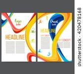 vector template design strips... | Shutterstock .eps vector #420478168
