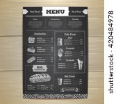 vintage chalk drawing fast food ... | Shutterstock .eps vector #420484978