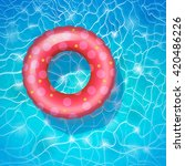 Baby Pink Circle In The Pool....