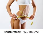 slim beautiful woman with... | Shutterstock . vector #420488992