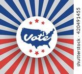 usa voting design concept | Shutterstock .eps vector #420491455